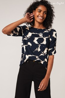 Phase Eight Blue Naava Abstract Floral Top
