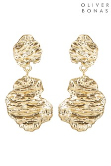 Oliver Bonas Azizi Sculptural Double Drop Earrings
