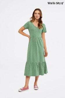 White Stuff Green Emily Jersey Dress