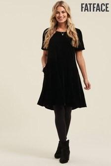 FatFace Copper/Black Velvet Simone Dress