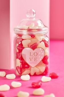 'With Love' Jelly Bean Sweet Jar