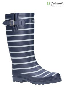 Cotswold Blue Sailor Wellington Boots