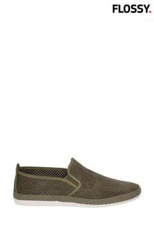 Flossy Green Vendarval Slip-On Shoes