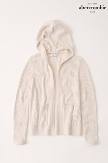 Abercrombie & Fitch Oatmeal Long Hoody