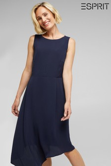 Esprit Blue Light Woven Midi Dress