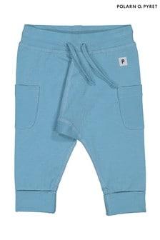 Polarn O. Pyret Blue GOTS Organic Trousers