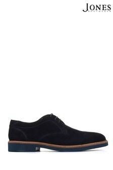 Jones Bootmaker Navy Dawood Suede Leather Derby Men's Shoes