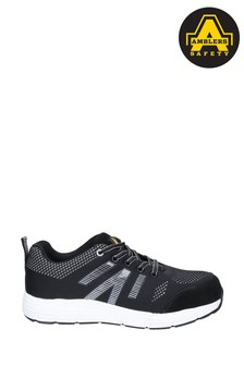 Amblers Safety Black FS714 BOLT Lace-Up Safety Trainers