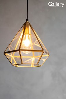 Piceno Geo Glass Pendant Light by Gallery Direct