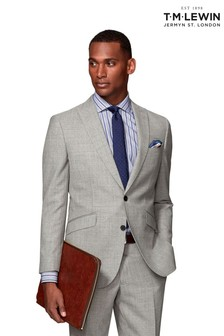 T.M. Lewin Canaletto Barberis Grey Suit Slim Fit Jacket