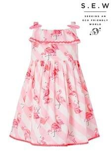 Monsoon Pink S.E.W. Baby Organic Francine Dress