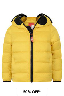 Ai Riders On The Storm Boys Yellow Down Padded Jacket With Lenses