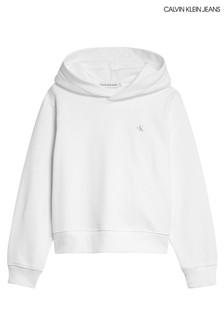 Calvin Klein White Back Logo Hoody