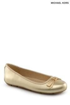 Michael Kors Gold Ballerina Pumps