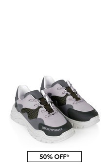 Emporio Armani Boys Leather Trainers