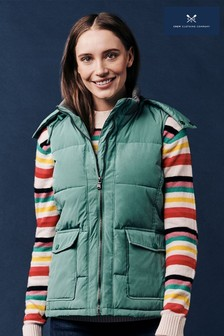 Crew Clothing Green Quilted Gilet
