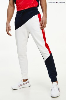 Tommy Hilfiger Blue Blocked Terry Cuffed Pants
