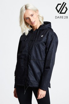 Dare 2B Black Deviation Waterproof Printed Jacket
