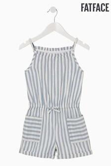 FatFace Blue Sparkle Stripe Playsuit