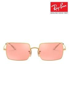 Ray-Ban® Photochromatic Rectangular Frame Sunglasses