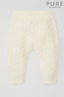 Pure Collection White Cashmere Baby Trousers
