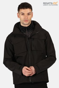 Regatta Black Shrigley 3-In-1 Waterproof Jacket