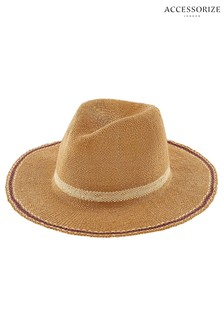 Accessorize Natural Casablanca Fedora