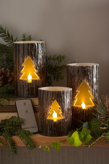 Set of 3 Festive Spice LED Candles