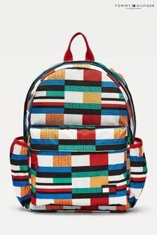 Tommy Hilfiger Blue Printed Backpack