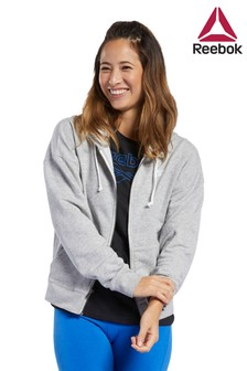 Reebok Grey Fleece Full Zip Hoody