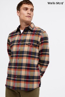 White Stuff Ochre Serpentine Flannel Check Shirt