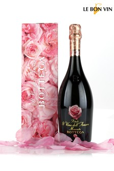 Sparkling Moscato In Scented Rose Petal Gift Set by Le Bon Vin