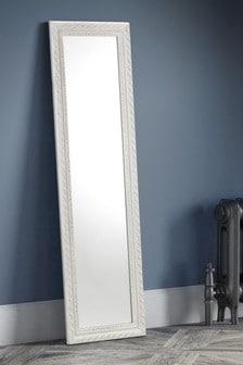 Ivory Distressed Frame Leaner Dress Mirror by Julian Bowen