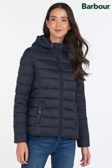 Barbour® Coastal Navy Quilted Hooded Shaw Jacket