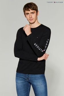 Tommy Hilfiger Black Logo Long Sleeve T-Shirt