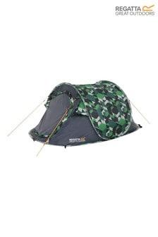 Regatta Green Malawi Printed 2 Person Pop-Up Tent