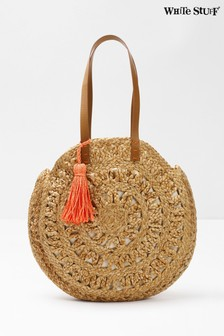 White Stuff Natural Amal Round Jute Bag