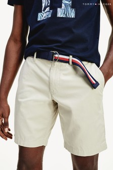 Tommy Hilfiger Camel Brooklyn Light Twill Belted Shorts