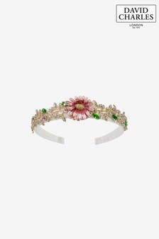 David Charles Ivory/Pink Embellished Hairband