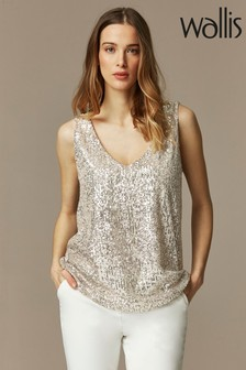 Wallis Oyster Sequin Cami