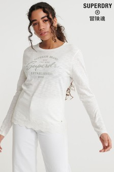 Superdry Graphic Lace Mix Long Sleeved Top