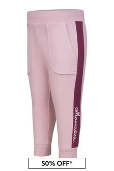 Monnalisa Baby Girls Pink Cotton Joggers