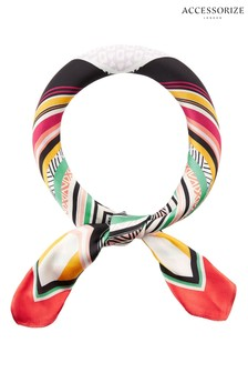 Accessorize Black Keka Abstract Square Scarf