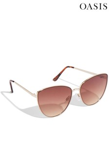 Oasis Grey Cat-Eye Sunglasses