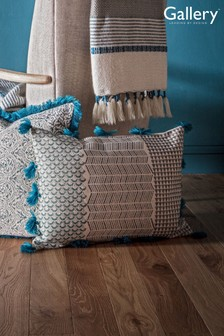 Gallery Direct Advika Block Print Tassel Cushion
