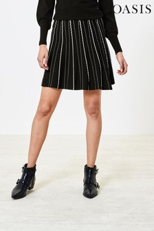 Oasis Scallop Dot Mini Skirt