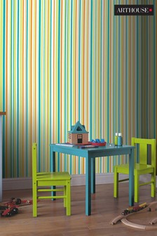 Children's Earn Your Stripes Wallpaper by Arthouse