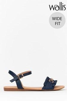 Wallis Witty Wide Fit Navy Scrumptious Unit Sandals