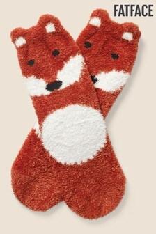 FatFace Orange Fox Fluffy Socks