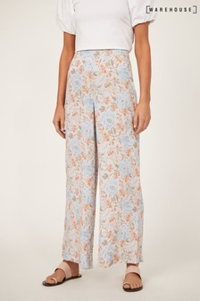 Warehouse Ornate Vines Wide Leg Trousers